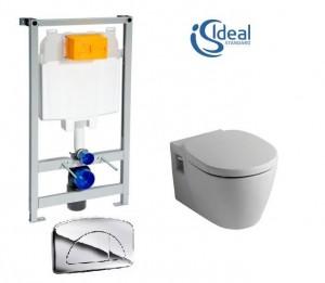 poza Pachet Ideal Standard compus din WC Connect cu capac Soft Close si cadru wc cu clapeta P.P