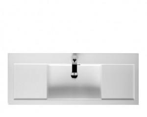 Poza Lavoar Riho din compozit 120cm gama Andora, alb