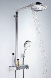 poza Set de dus Hansgrohe gama Raindance Select E 300, 3 functii ST Showerpipe, crom O.Z