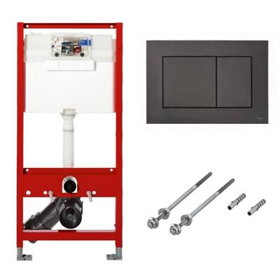 Cadru WC Tece + Set fixare pentru cadrele Tece + Clapeta dubla actionare TECEnow neagra PP. Poza 47613