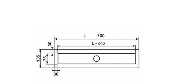 Rigola Tece completa model Linus, grila steel de 70 cm. Poza 51814