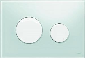 poza Clapeta actionare TECE Loop Verde menta, butoane albe