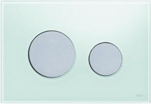 poza Clapeta actionare TECE Loop Verde menta, butoane cromate mat