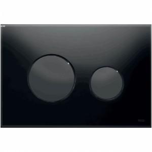 poza Clapeta actionare TECE Loop Neagra, butoane negre