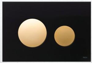 poza Clapeta actionare TECE Neagra, butoane aurii