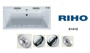 poza Sistem hidromasaj Riho model HIT, compus din 6 duze si 4+2 microduze, pompa 800 watt