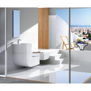 poza Ansamblu care contine vas WC lavoar+baterie Roca gama W+W