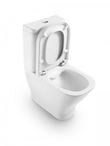 poza Capac WC cu inchidere normala Roca gama The Gap, pentru vas WC Compact