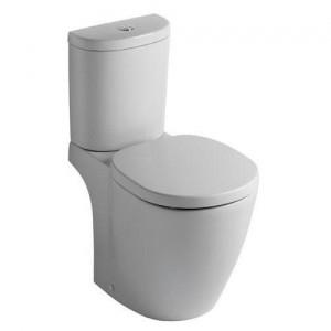 poza Vas WC Ideal Standard fixare in pardoseala cu rezervor pe vas Arc si capac inchidere normala gama Connect, alb