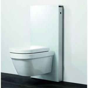 poza Modul pentru WC suspendat Geberit model Monolith sticla alba/aluminiu
