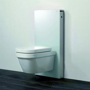 poza Modul pentru WC suspendat Geberit model Monolith sticla verde/aluminiu