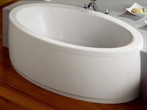 poza Cada ovala cu masaj total si duze cromate 185x100cm Roca model Georgia