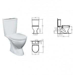poza Vas WC cu rezervor pe vas si capac Vidima seria SevaMix