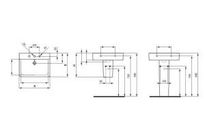Poza  Lavoar Ideal Standard Connect Cube 60 cm