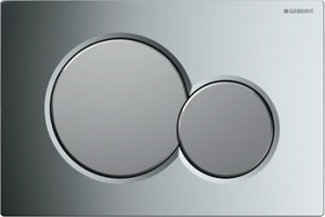 poza Clapeta WC Geberit model Sigma 01,crom lucios/crom mat,pentru rezervor incastrat