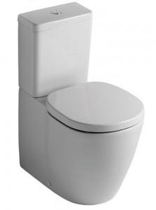 poza Vas WC Ideal Standard fixare in pardoseala BTW cu rezervor pe vas Cube si capac inchidere lenta gama Connect, alb P.P.