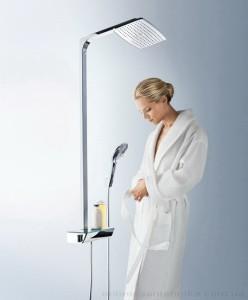 poza Panel de dus Hansgrohe model Raindance Select E360 culoare alb/crom