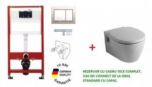 poza Pachet compus din cadru WC Tece complet, vas WC Connect  de la Ideal Standard si capac O.Z