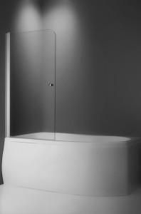 poza Paravan pentru cada cu dubla deschidere 70 cm seria Roltechnik model TV1 profil silver