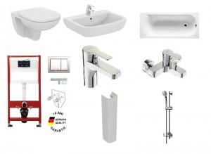 poza Pachet baie complet Ideal Standard, seriile Tempo si Posh cu vas WC suspendat