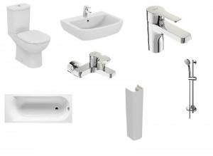 poza Pachet baie complet IDeal Standard, seriile Tempo si Posh cu vas WC pe pardoseala