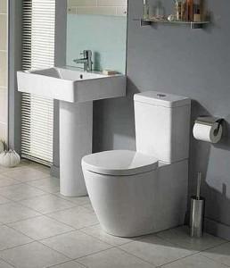 poza Vas WC Ideal Standard fixare in pardoseala BTW cu rezervor pe vas Cube si capac inchidere normala gama Connect, alb O.Z.