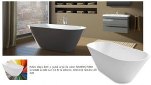 poza Cada freestanding 170x70 cm Riho model Barcelona Culori preferentiale Mat