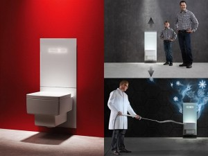 poza Cadru WC complet TECE, gama TECElux, actionare electronica