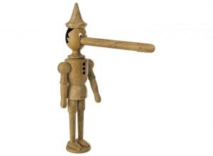 poza Baterie bucatarie completa Pinocchio cu ventil click-clack culoarea lemnului