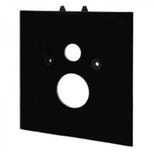 poza Placa inferioara TeceLux din sticla neagra, pentru vas WC standard, 9650105