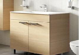 poza Mobilier Ideal Standard pentru lavoar 80cm gama Tempo, stativ - stejar nisipiu
