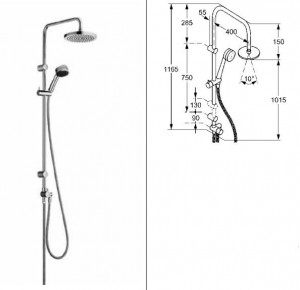 poza Set dus Kludi Dual Shower System