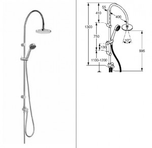 poza Baterie dus Kludi Dual Shower System model Zenta
