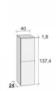 Poza Dulap suspendat Riho 40x137,4cm gama Eifel model Standard
