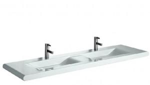 poza Lavoar Laufen dublu de pus pe blat 168x48cm gama LivingStyle, alb