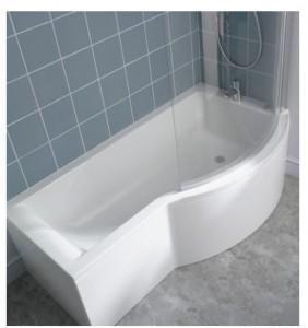 poza Cada Ideal Standard 150x90cm gama Connect Shower, varianta de dreapta, pentru montare cu panouri