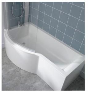 poza Cada Ideal Standard 150x90cm gama Connect Shower, varianta de stanga, pentru montare cu panouri