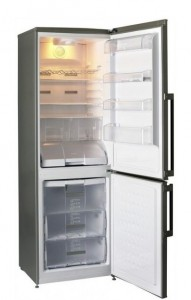 poza Combina frigorifica Teka model NFE2 320 INOX, no frost, A+, display digital,  197+90 l, inox antiamprenta