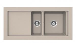 poza Chiuveta bucatarie Teka incorporabila model Aura 60B TG 1 1/2B 1D - Tegranit SANDBEIGE