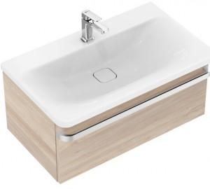 poza Mobilier Ideal Standard pentru lavoar 80cm gama Tonic II, lemn maro deschis