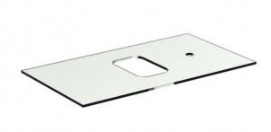 poza Blat de sticla Ideal Standard 80cm cu orificiu baterie gama Tonic II, sticla alba securizata