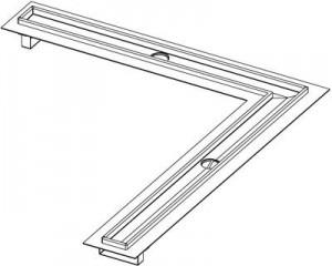 Poza Canal de dus TECEdrainline -Tipodimensiune unghiular la 90 de grade de 1000x1000 mm