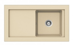 poza Chiuveta bucatarie Teka incorporabila model Aura 45B TG 1B 1D - Tegranit TOPASBEIGE