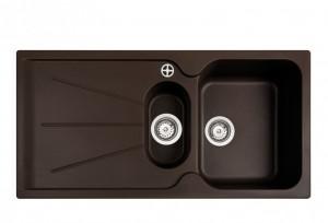 poza Chiuveta bucatarie Teka incorporabila model Cara 60B TG 1 1/2B 1D - Tegranit CHOCOLATE BROWN