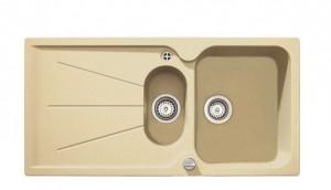poza Chiuveta bucatarie Teka incorporabila model Cara 45B TG 1B 1D - Tegranit TOPASBEIGE