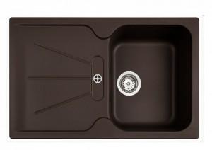 poza Chiuveta bucatarie Teka incorporabila model Cara 45B TG 1B 1D - Tegranit CHOCOLATE BROWN