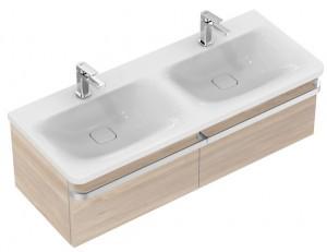 poza Mobilier Ideal Standard pentru lavoar 120cm gama Tonic II, lemn deschis lucios