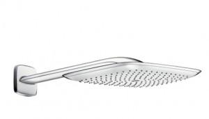 poza Para dus Hansgrohe gama PuraVida 400 Air, 1 functie, cu conexiune perete 390mm, crom