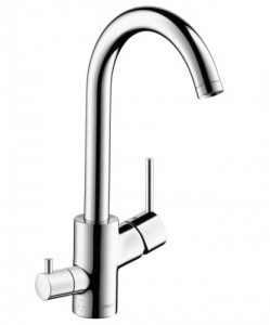 poza Baterie bucatarie Hansgrohe gama Talis S² Variarc, crom, cu ventil