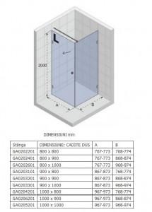 Poza Cabina de dus Riho 80x80x200cm model Artic A201, deschidere stanga